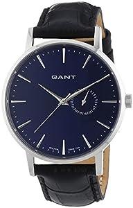 GANT PARK HILL II - Reloj Analógico de Cuarzo para Hombre, correa de Cuero color Negro de GANT