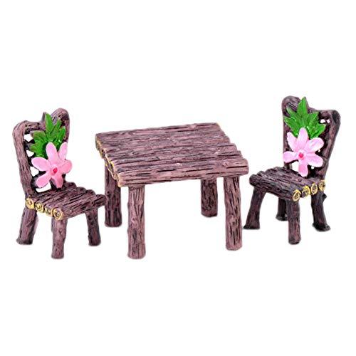 Décoration de table miniature de jardin de fée Cratone - Accessoires de bricolage - Plantes - Décoration de maison de poupée - Pot de fleurs succulents, b, 2.2 * 4.1cm