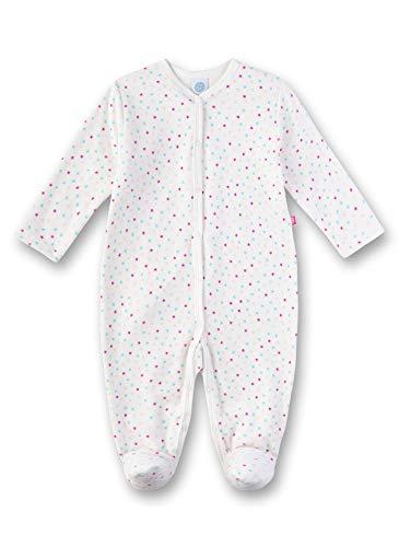 Sanetta Baby-Mädchen Overall Strampler, Beige (Broken White 1427), 56 (Herstellergröße: 056)