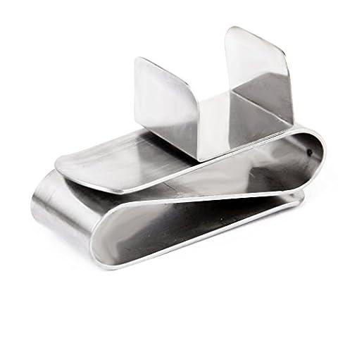 Yeah67886en acier inoxydable magnétique solide de billard Pool cue Craie Holder Clip