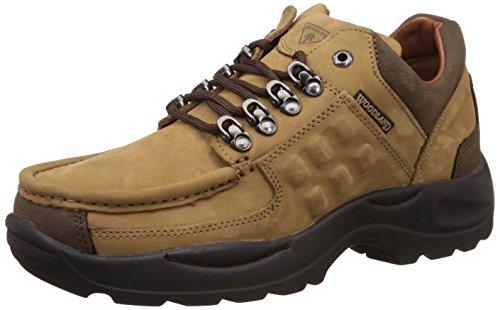 Woodland Men's Camel Leather Sneakers - 7 UK/India (41 EU)