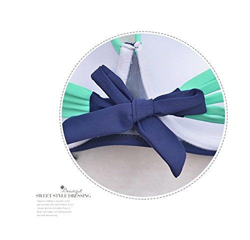 Europäische Mode Dreieck Zauber Farbe Stahl Platte unter hoher Taille Bikini-Badeanzug 48