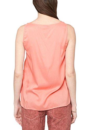 s.Oliver Denim Viskose 49.506.13.2928 - Blouse - coupe droite - Sans manche - Femme Orange (Capri 2041)