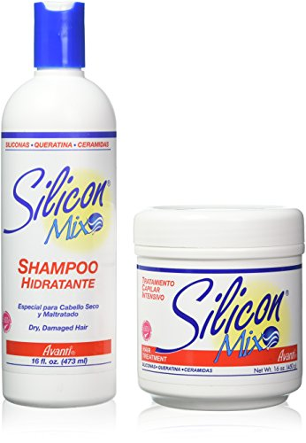 Silicon mix set di trattamento e shampoo da 16oz/450g – per capelli secchi e danneggiati, per parrucche o capelli veri, lace front, protesi capelli da uomo ed extension di capelli veri