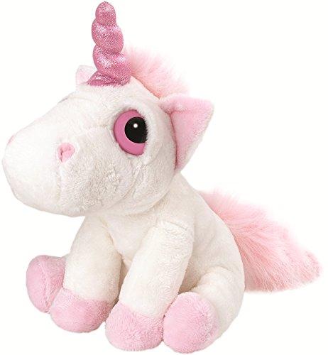 Suki Gifts 14081 - Suki Li'L Peepers Medio Unicorno 'Bella' di Peluche, 228cm, Bianco e Rosa