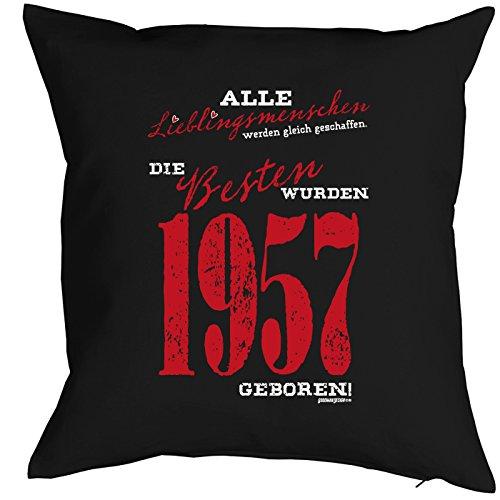 Kissen zum 59. Geburtstag Geschenkidee Kissen mit Füllung Lieblingsmensch 1957 geboren Polster zum 59 Geburtstag für 59-jährige Dekokissen mit Urkunde - 2