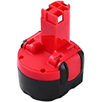 Powayup per Bosch Batteria 9,6V 3,0Ah Ni-Mh Sostitutiva BAT048 BAT100 BAT119 BH984 BPT1041 PSR 960 GSR 9.6V 2607335260 2607335271 2607335373 2607335707 2607335674 2607335682