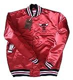 Mitchell & Ness Satin Jacke NBA Chicago Bulls red L
