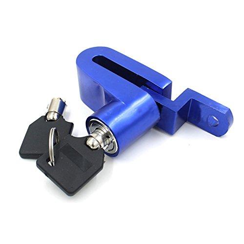 logei® Fahrrad Motorrad-Sicherheitsschloss Diebstahlsicherungen Disk-Scheibenbremse Sperre Felgenschloss Lock + 2 Schlüssel, Blau