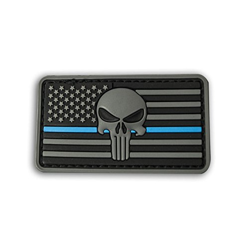 Punisher Patch PVC Moral Aufnäher Emblem Military Badge American Flag verschiedene Farben - Forces Special Punisher