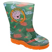 Boys Peppa George Pig Wellies Kids Dino RAIN Shoes Wellington Boots UK Size 5-10