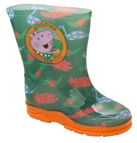 Boys Peppa George Pig Wellies Kids Dino RAIN Shoes Wellington Boots UK Size 5-10