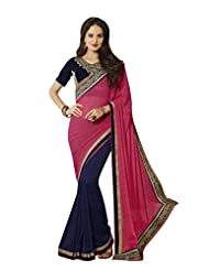 Aarti Latest Fashionable Party Wear Fancy Saree Bridal Embroidery Saree Wedding Wear Free Size - B00VRM6PTU