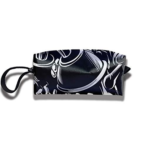 g Crazy Graffiti Pigments Bucket Women Cosmetic Bag Multifuncition Durable Pouch Zipper Organizer Bag ()