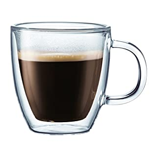 Bodum BISTRO Espresso Mugs Set (Double-Walled, Dishwasher Safe, 0.3 L/10 oz) - Pack of 2, Transparent (B000QU8SOO) | Amazon price tracker / tracking, Amazon price history charts, Amazon price watches, Amazon price drop alerts