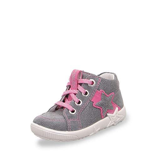 Superfit Baby Mädchen Starlight Sneaker, Grau (Smoke Kombi 44), 23 EU