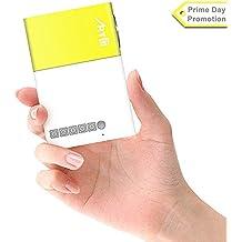 Mini Proyector, ARTLII Proyector Portable de Bolsillo apoyo 1080P con la entrada de USB/SD/AV/HDMI para el interfaz TV/ Películas/ Juegos/ Exposiciones/ Karaoke