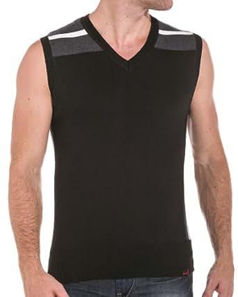 Sixth June - Pull sans manches design - couleur: Noir - taille: XL