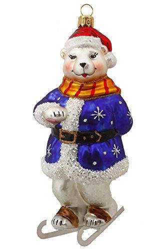 Hamburger Weihnachtskontor - Außergewöhnlicher Christbaumschmuck -Eisbär auf Schlittschuhe