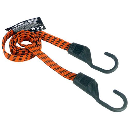 Keeper 06104 Ultra 48 Black/Yellow Flat Bungee Cord, 2 Pack by (Keeper Bungee)