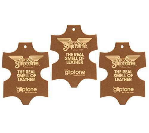 Liquid Leather Gliptone-Deodorante per Auto, Confezione da 3 deodoranti per Vera Pelle Inglese, Ali Air Freshener-Deodorante per Auto, fragranza: