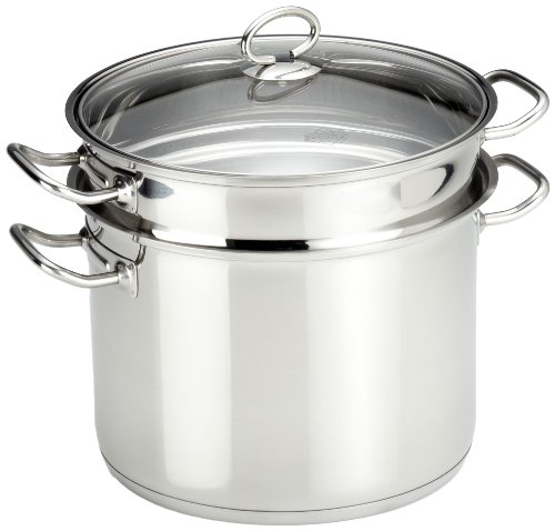 Küchenprofi 2380502824 Pasta Pot with Encapsulated Multi-Layer Base