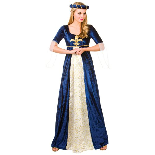 Medieval Maiden Historical Woman Fancy Dress Medium (Burgfräulein Kostüm)