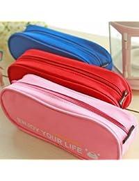 EasyBuy India S, Pink : Portable Makeup Cosmetic Brush Coin Pen Pencil Case Organizer Pouch Bag Box