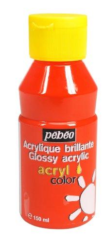Pébéo 374104 Acrycolor 1 Flasche, Orange, 150 ml