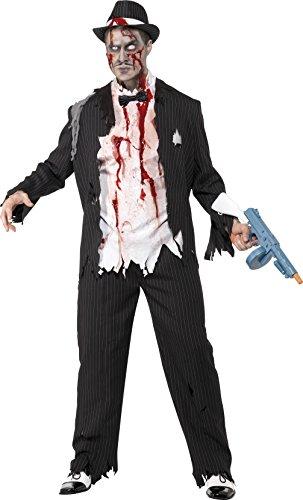 Smiffys 31910L Zombie-Gangster-Kostüm, L, -