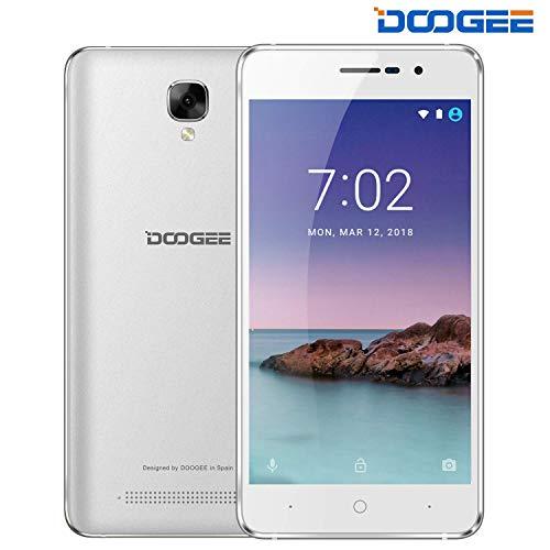 "Cellulari Offerte Android 8.1, DOOGEE X10S Telefoni Cellulari in Offerta Economici Batteria 3360mAh MT6580A 1+8GB ROM, 5.0"" HD IPS, Face ID 3G Offerte Smartphone Economici, Argento"