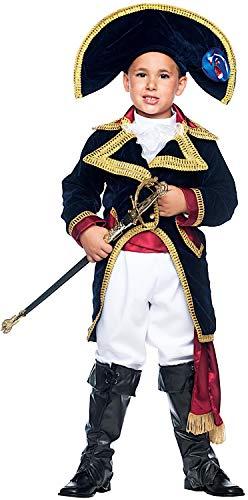 Costume di carnevale da napoleone vestito per ragazzo bambino 7-10 anni travestimento veneziano halloween cosplay festa party 50749 taglia 8/m