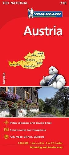 Austria - Michelin National Map 730 (Michelin National Maps) por Michelin