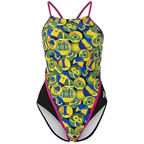 MP Michael Phelps Mujer carimbo redondo espalda Bañador, mujer, Carimbo Round Back, Carimbo Round