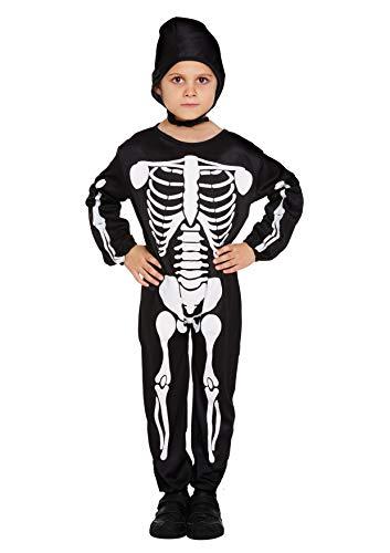 Henbrandt Jungen Skelett-Kostüm, Bein, 10-12 Jahre (Skelett Kostüm Für Jungen)