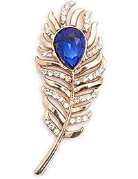VIBHAVARI Gold Men's Lapel Pin (Fthrblstn_Free Size)