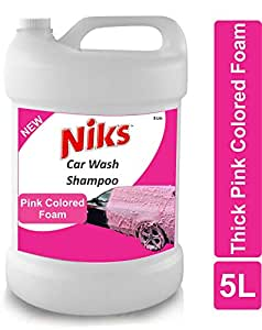 Niks Auto Specialty Car Wash Shampoo 5 Ltrs. Color Safe-Ph Neutral- Thick Foam