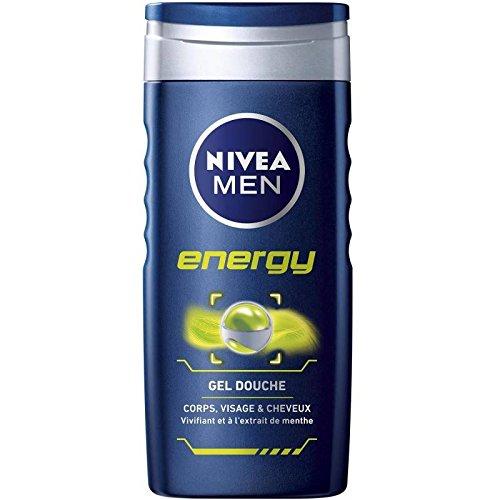 Nivéa - For Men - Shampoo & Shower Energy Belebender Minzextrakt 250Ml - Shampooing & Douche Energy Extrait De Menthe Vivifiante 250Ml - Preis Pro Einheit - Schnelle Lieferung