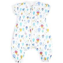 i-baby Saco Dormir Bebé Infantil Pijama Manta con Mangas Cortas Primavera Verano Algodón Gasa