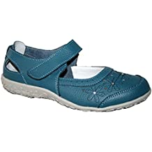 Ladies Sheila cojín Walk Piel Superior sandalias zapatos de barco