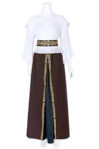 terliche Königin Kleid Langarm Maxi Kleid Party Kostüm (M, GC437A-NI) (Drama Queen Kostüme)