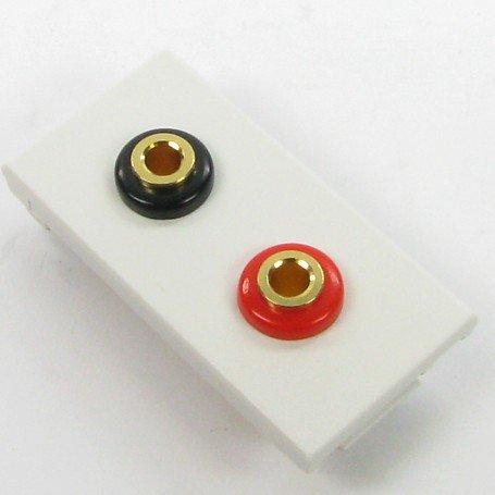Preisvergleich Produktbild Lautsprecher 4mm Banana Sockel Wand Einsatz