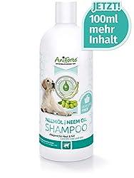AniForte pflanzliches Neemöl Shampoo 500ml Hundeshampoo parfümfrei - Pflegeprodukt für Hunde auf pflanzlicher Basis, Hautfreundlich, Pflegend und leicht kämmbar, Angenehm im Geruch