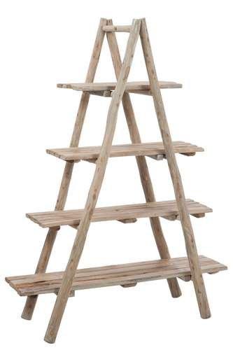 DESIGN AND VINTAGE Etagère 4 planches en bois naturel