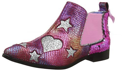 IRRA4|#Irregular Choice Starlight Empress, Botines para Mujer, Pink Dark, 4 EU