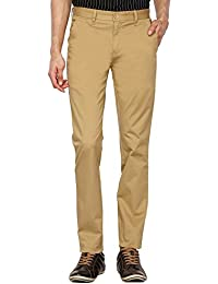 Stop By Shoppers Stop Mens 4 Pocket Solid Chinos_Khaki