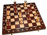 Schach-Set aus Holz, in Kassette, 54 cm -
