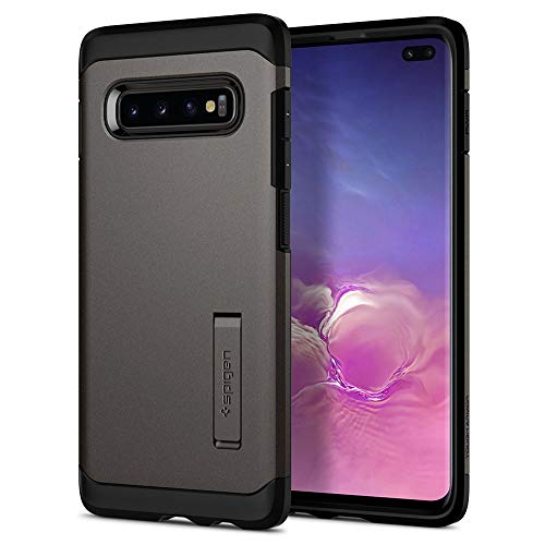 Spigen Tough Armor, Cover Galaxy S10 Plus, Design Ibrido a Doppio Strato Tecnologia Air Cushion e Protezione Mil Grade Shock Absorption Migliorata Kickstand per Galaxy S10 Plus - Gunmetal