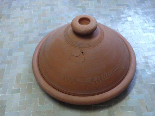 Tajine marroquí para cocinar no esmaltado Ø 40 cm para 6-8 personas