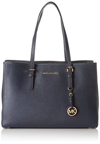Michael Kors Jet Set Travel Large East West Tote, Bolso Totes para Mujer, Azul (Admiral), 16x27x37 cm (B x H x T)